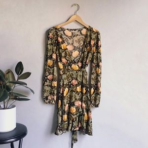 ECOTE Floral Wrap Dress